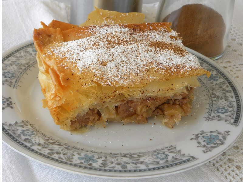 milopita greek apple pie image