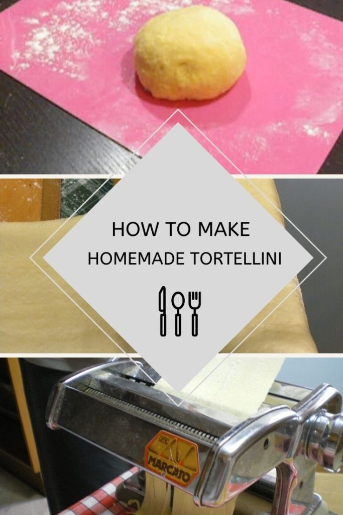 Collage how to make homemade tortellini image