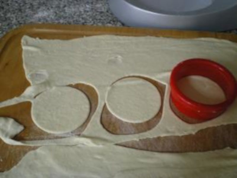 Cutting the dough image