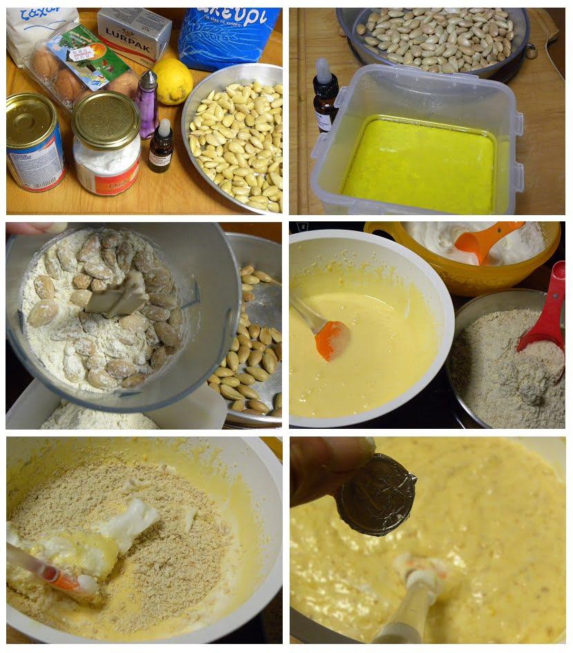 Collage preparing vassilopita picture