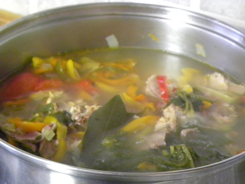 Turkey soup cooking image