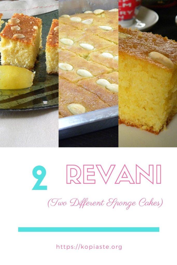 Collage two revani sponge cakes image
