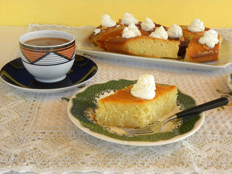 Lemon Revani with Whipped cream image