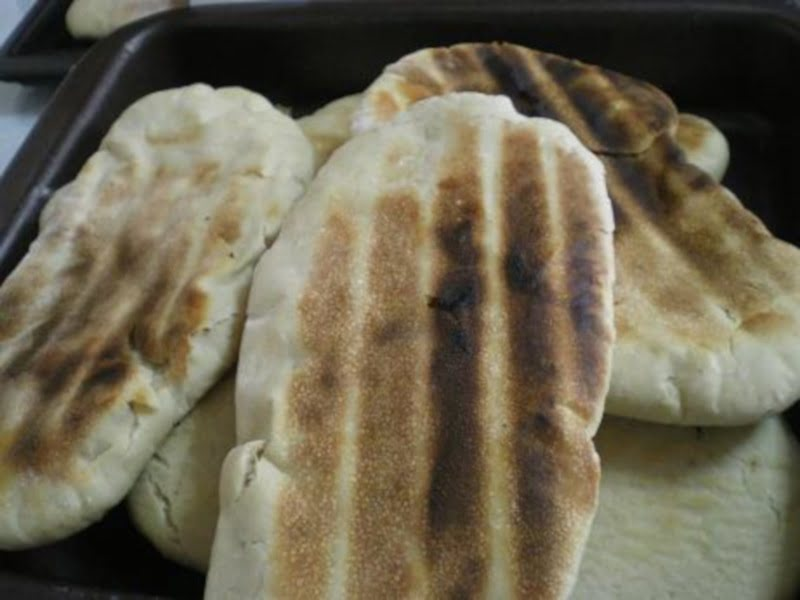 grilled pita bread image