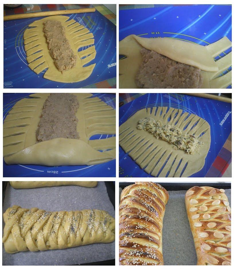 Collage how to braid tsoureki image