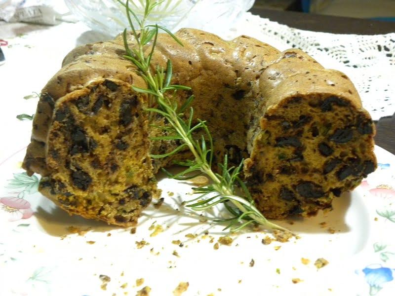 Savory olives cake image