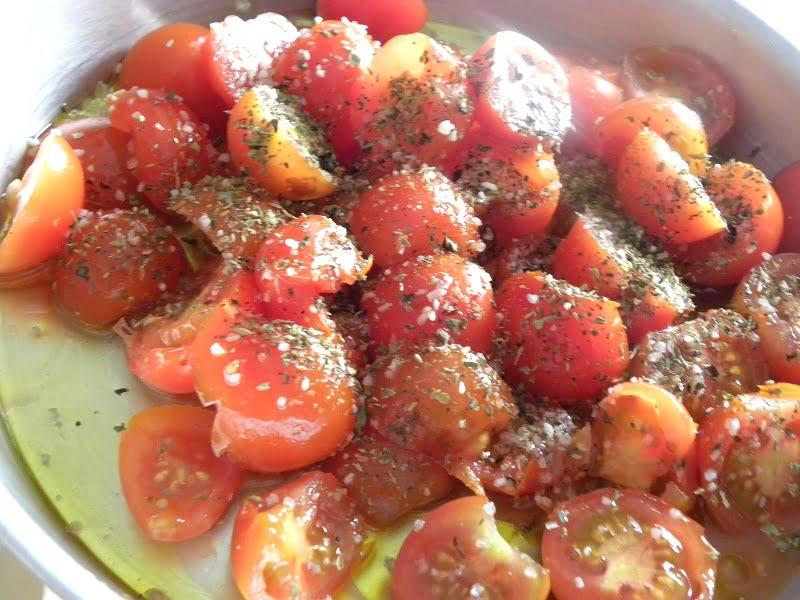 Seasoning cherry tomatoes image