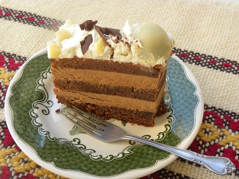 A slice of chocolate cake image