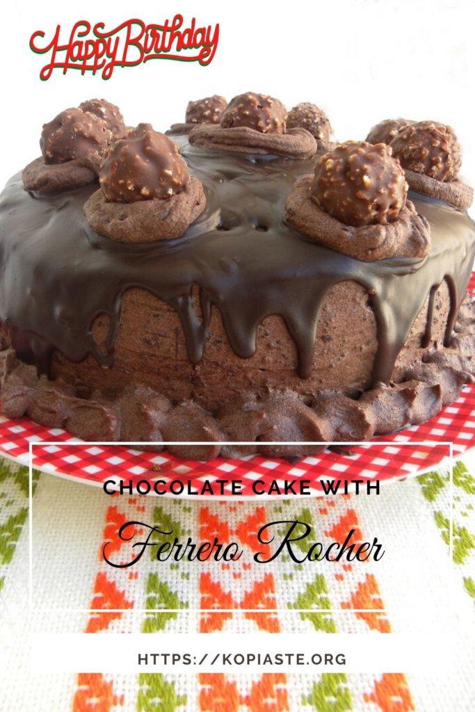 Collage Chocolate Ferrero Rocher Cake image