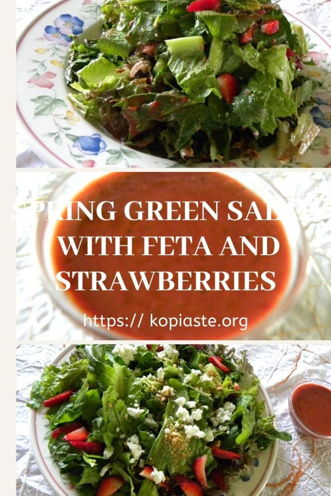 Collage Green Salad with Strawberries and Feta image