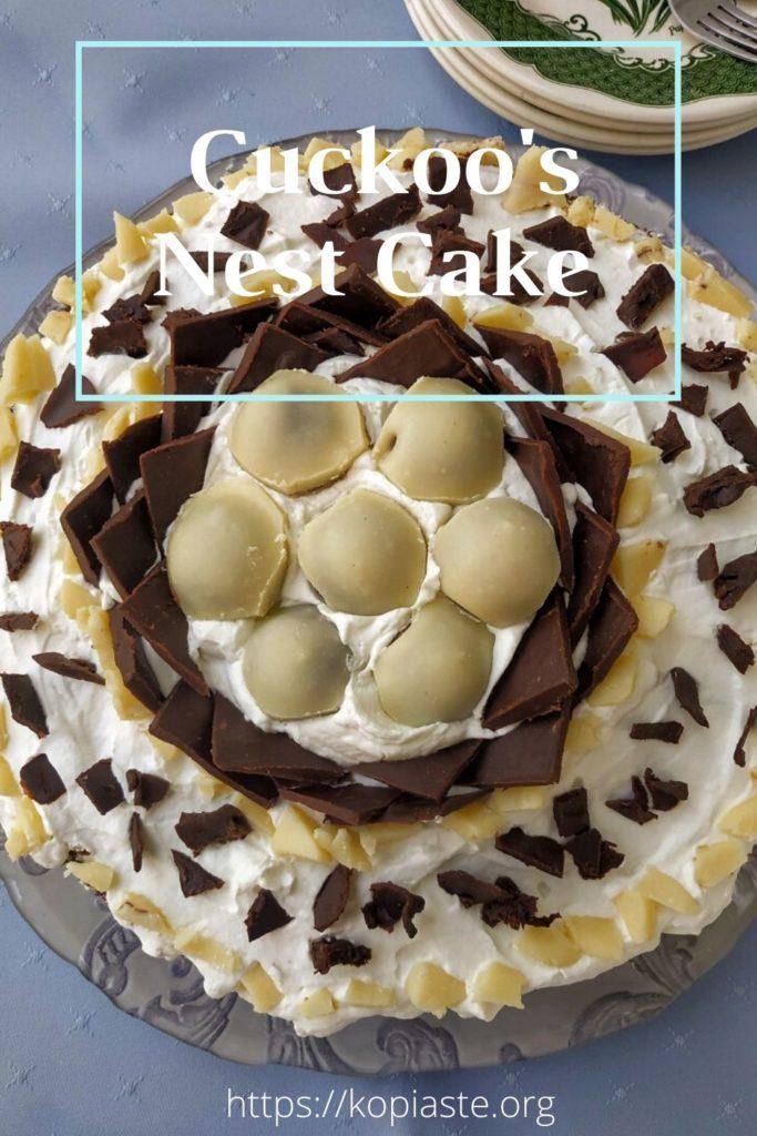 Collage cuckoo's nest Cake image