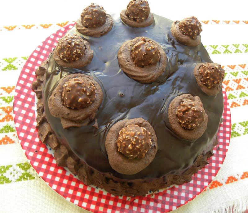 Ferrero Rocher Chocolate Cake image