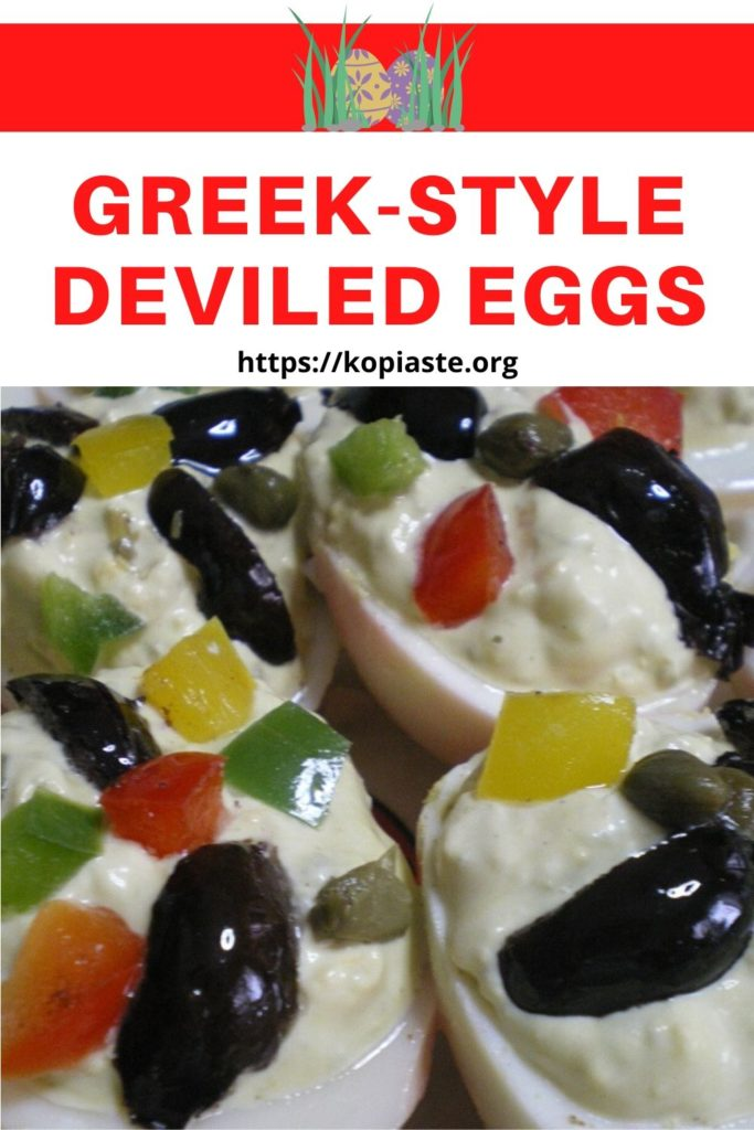 Greek-style Deviled eggs image