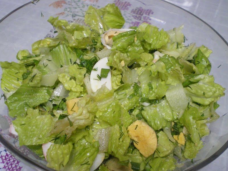 Old lettuce salad image.