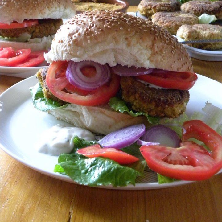 Vegan chickpea burgers image