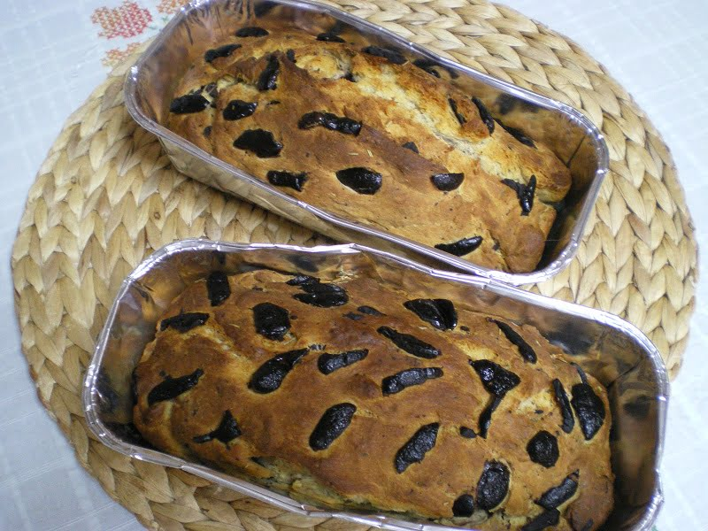two loaves of baked bread image