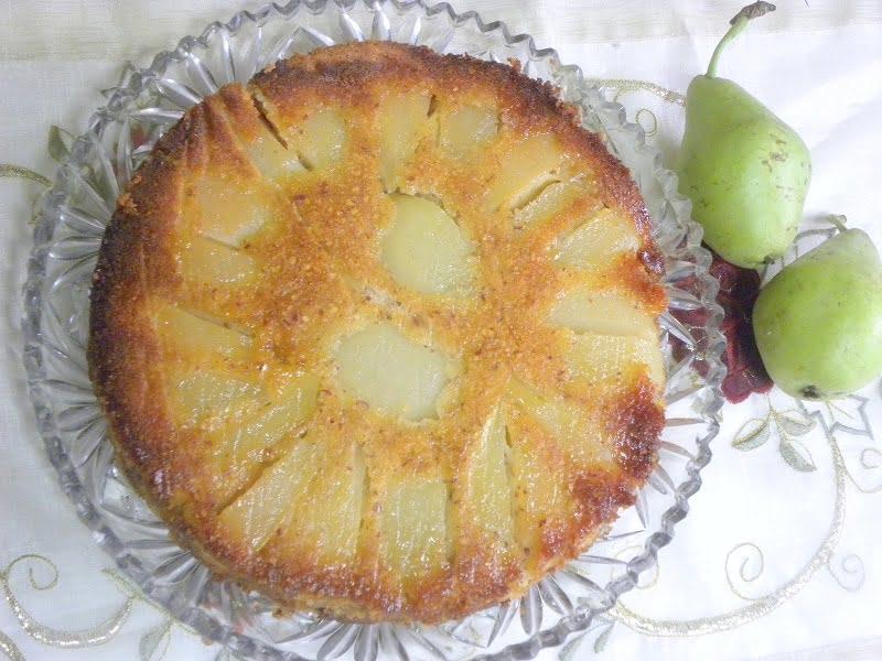 upside down pear cake image