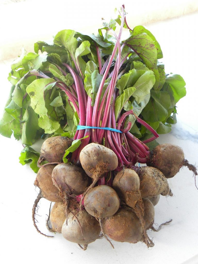 A bunch of baby beets image