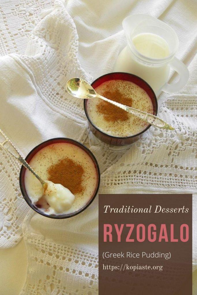 Collage Ryzogalo Greek Rice Pudding image