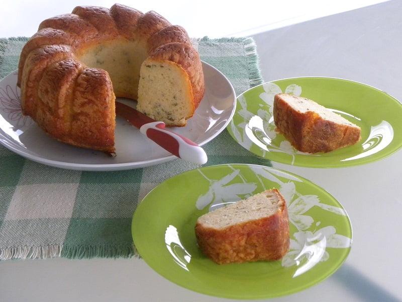 Cypriot Savoury halloumi cake image
