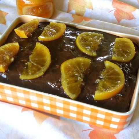 Walnut Cake with Chocolate and Orange Image