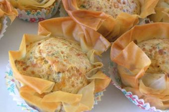 halloumi muffins in phyllo cases image