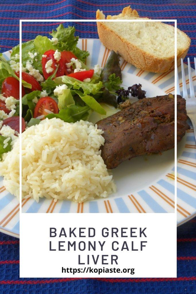 Collage Baked Greek Lemony Calf Liver image