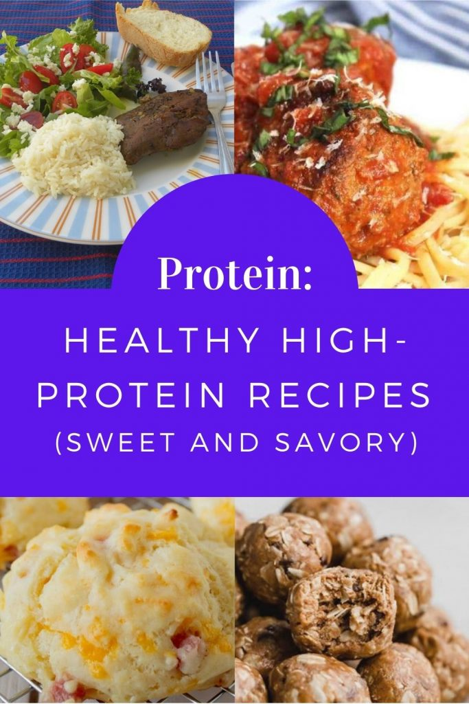 Collage Healthy High-Protein Recipes image