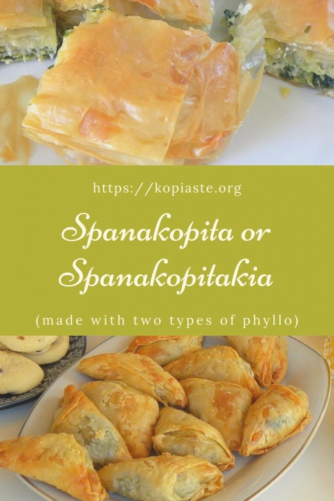 Collage Spanakopita or Spanakopitakia image