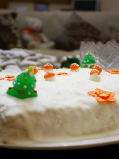 Christmas Cake with ebible ornaments image