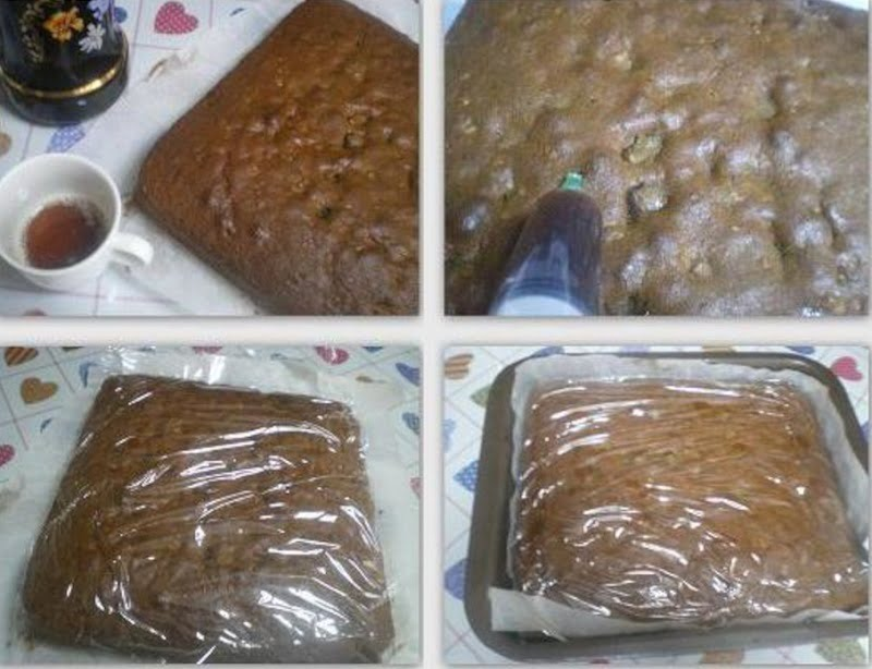 Collage Christmas Cake wetting cake image