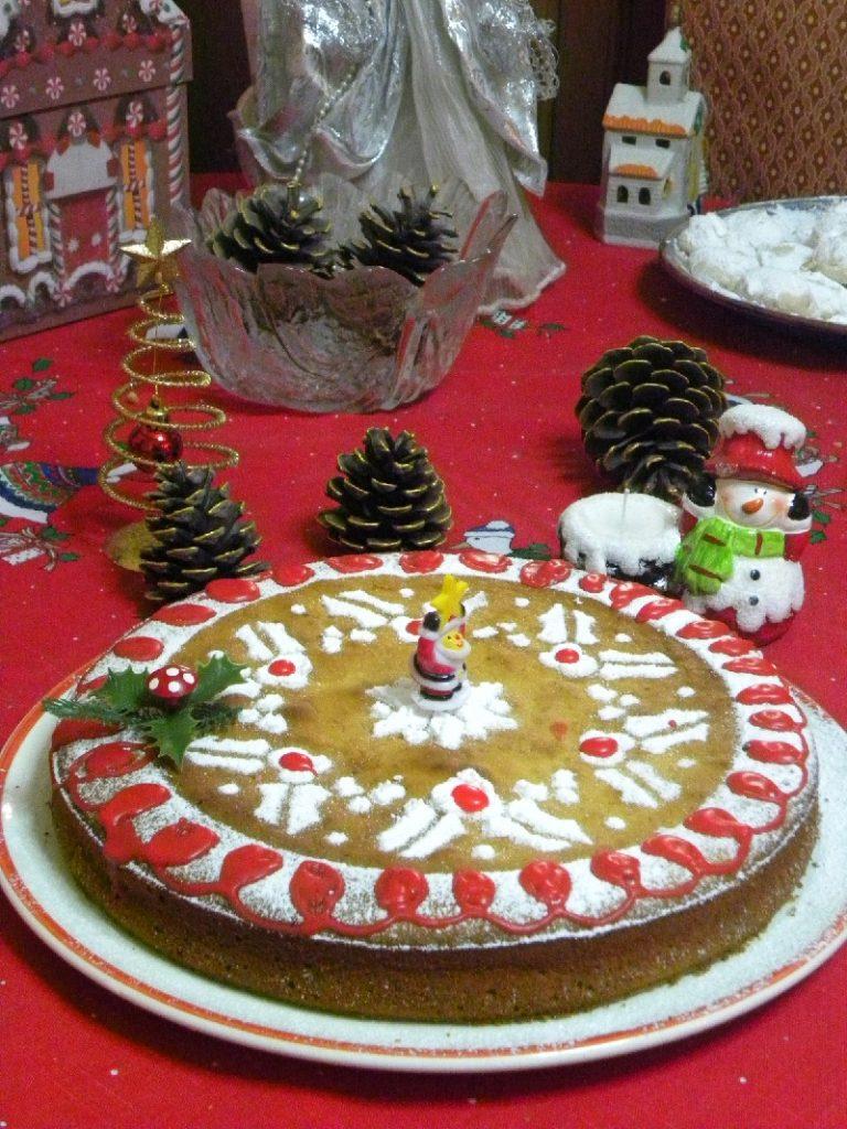Vassilopita cake with ornaments picture