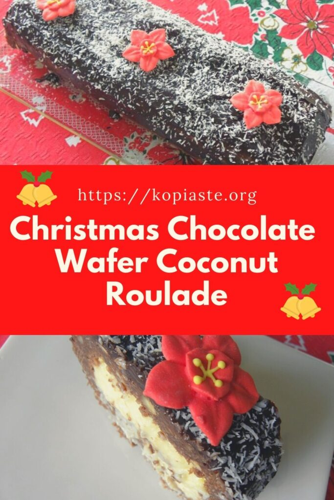 Collage Christmas Chocolate Wafer Roulade picture