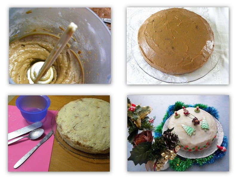 Collage Christmas Cake 2014 image