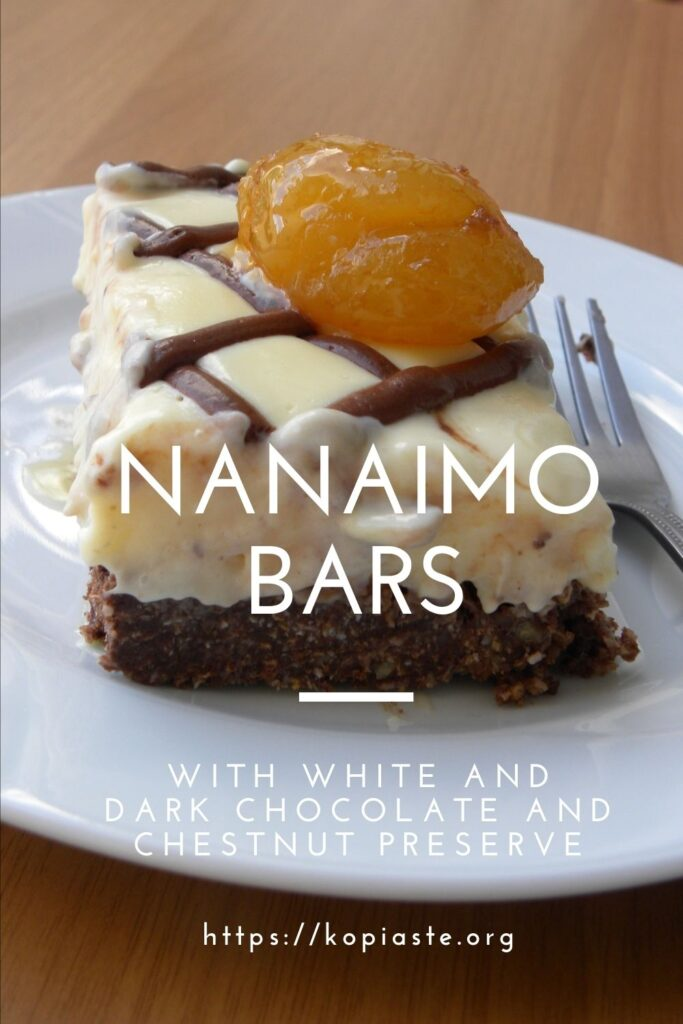 Collage White chocolate and chestnut nanaimo bars image