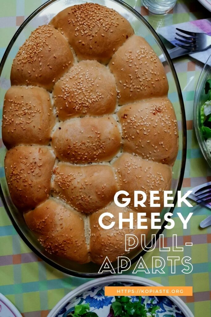 Collage cheesy Greek Pull-aparts image