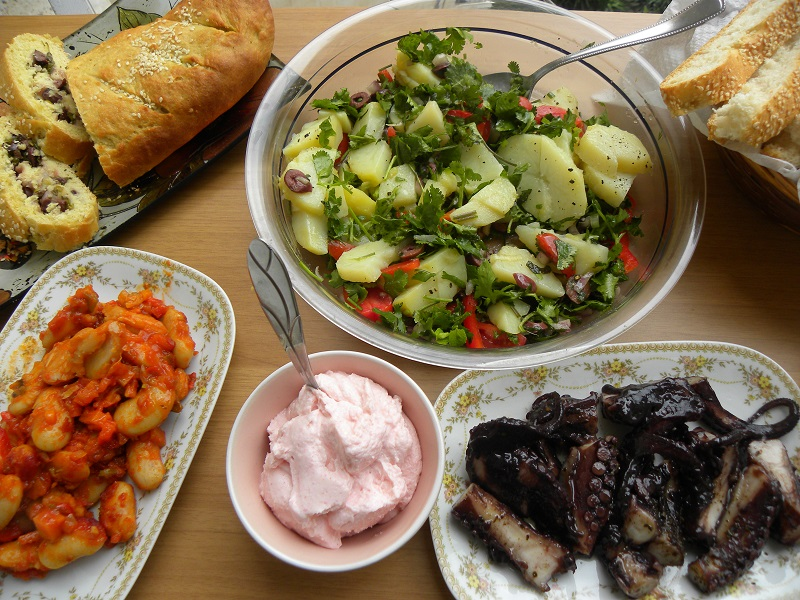 Greek Orthodox Lenten mezze platters image