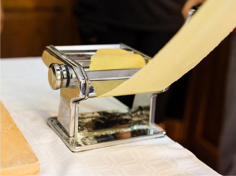 Making dough on a pasta maker image
