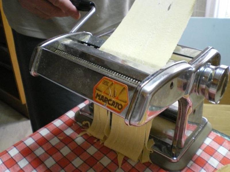 Making homemade pasta image
