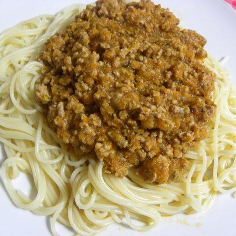 Spaghetti with bolognaise sauce image