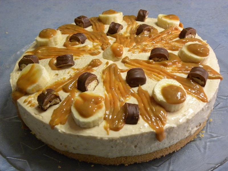 Twix Banoffee cheesecake with caramelize bananas image