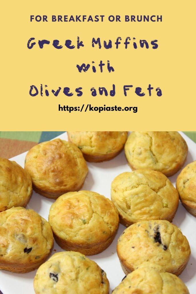 Collage Kalamata olives and feta muffins image