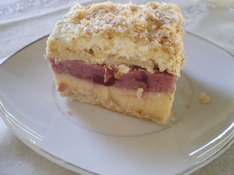 Millefeuilles with cherry mousse image
