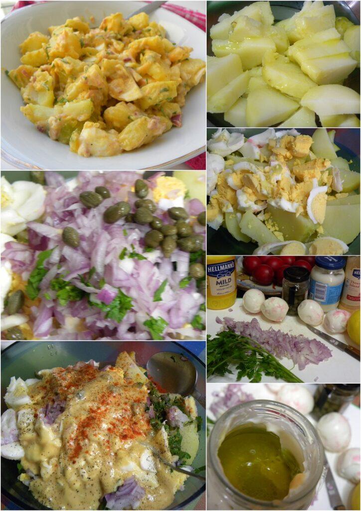 Collage Potato salad photo
