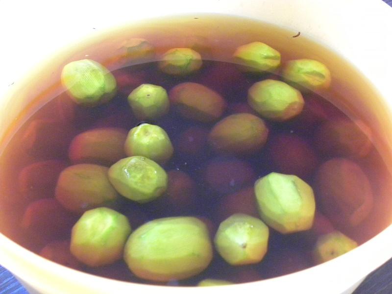 green walnuts peeled image