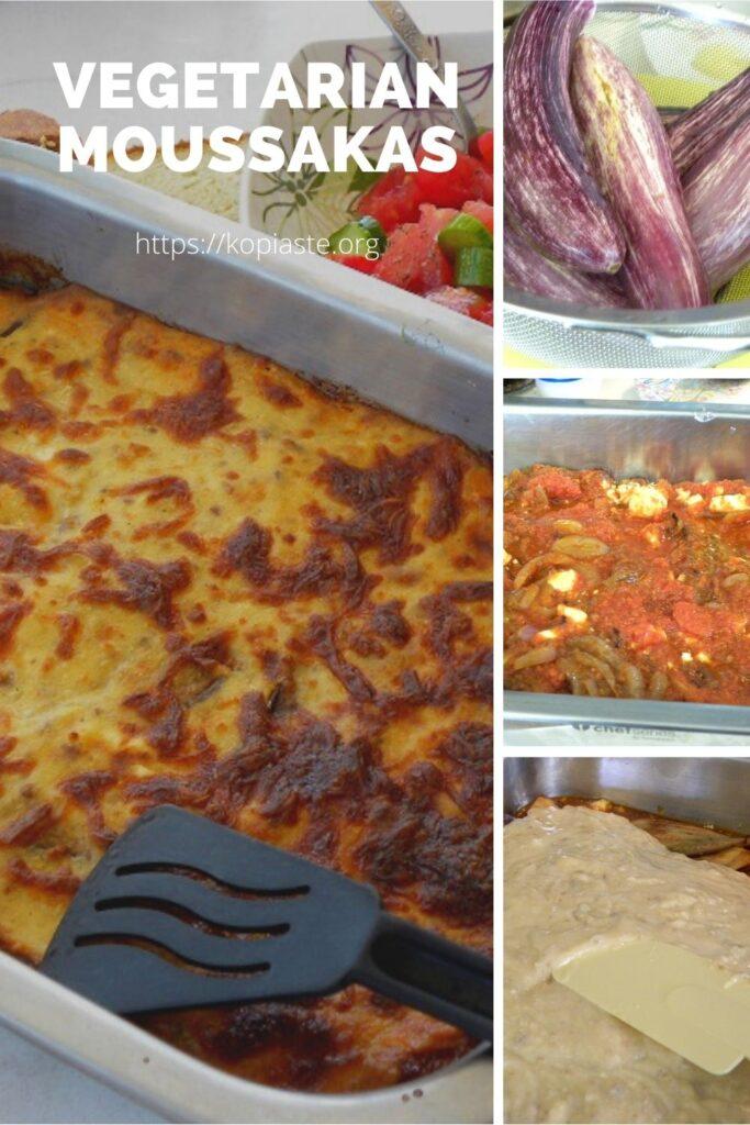 Collage Vegetarian Moussakas image