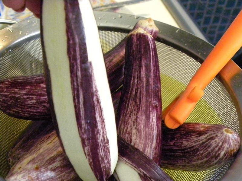 peeled eggplants image