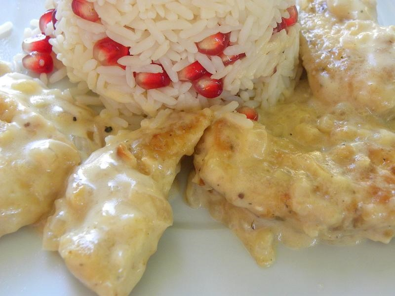 Chicken Fricassee with pomegranate Rice image